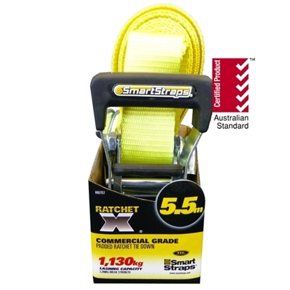 Picture of 151 Ratchet X Tie Down Yellow 5.5m 1pk